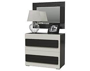 Купить комод Мэри-Мебель Престиж с 4-мя ящиками  СП-13 +с зеркалом с подсветкой СП-12СП