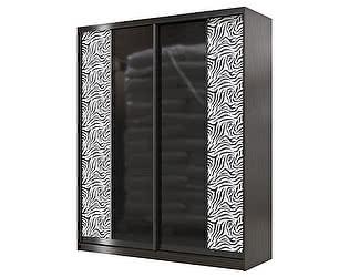 Шкаф-купе Мэри-Мебель Сан-Ремо СР-01-1800 стекло черный глянец