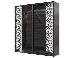 Шкаф- купе Мэри-Мебель Сан-Ремо СР-01-2000 стекло черный глянец