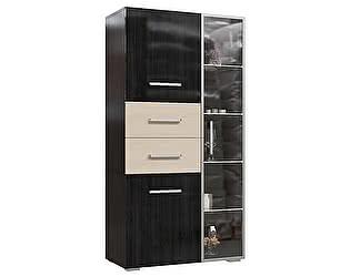 Купить шкаф Мэри-Мебель Капучино со стеклянной секцией