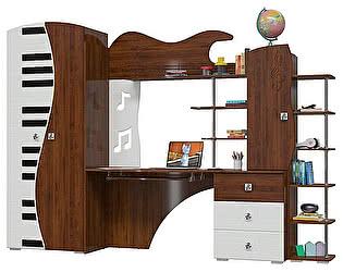 Детская Мэри-Мебель Мелодия (шкаф + стол компьютерный + стеллаж)