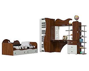 Детская Мэри-Мебель Мелодия (кровать + шкаф + стол компьютерный + стеллаж)