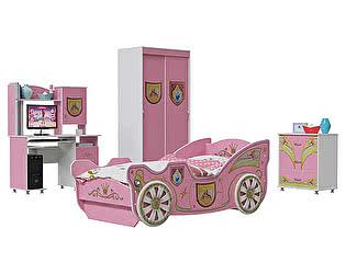 Детская комната Мэри-Мебель Принцесса Компьютерный стол + Шкаф-купе + Кровать Карета + Комод