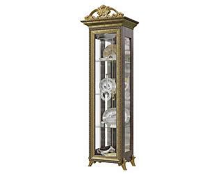 Шкаф Мэри-Мебель Версаль ГВ-01К 1-дверный с короной № 2 универсальный