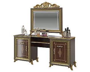 Стол туалетный Мэри-Мебель Версаль СВ-07 + зеркало СВ-08К с короной