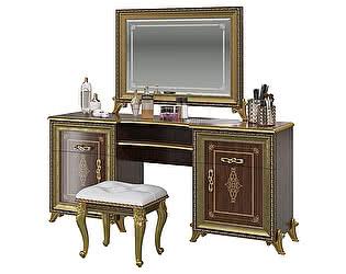 Стол туалетный Мэри-Мебель Версаль СВ-07 + зеркало СВ-08  без короны + пуф СВ-09