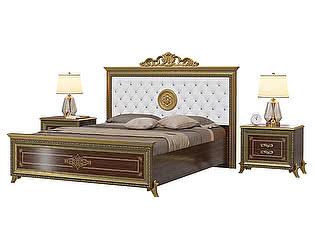 Кровать Мэри-Мебель Версаль СВ-03МИК (с короны) + две тумбы СВ-05