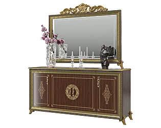 Купить комод Мэри-Мебель Версаль ГВ-05 4-х дверный + зеркало ГВ-06К с короной
