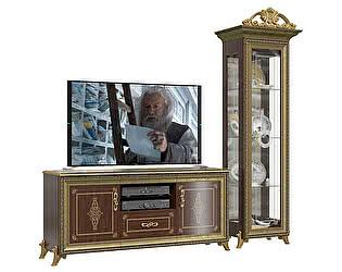 Гостиная Мэри-Мебель Версаль  Шкаф ГВ-01К 1-дверный с короной + Тумба TV ГВ-03
