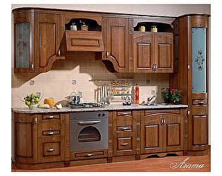 Купить кухню Юг-Мебель Агата прямая 3,25, текстура караваджо