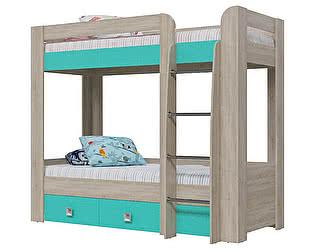 Купить кровать Гранд Кволити Сити 4-2002, 2-х ярусная с двумя ящиками