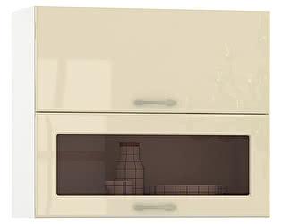 Купить шкаф Mobi Сандра 800 горизонтальный дверь и дверь со стеклом, ШхГхВ 80