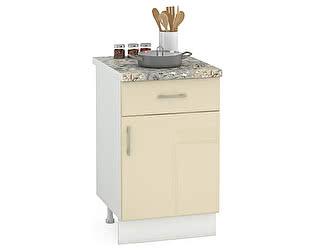 Купить стол Mobi Сандра 500 1 ящик + 1 дверь, ШхГхВ 50х52х81 см., универсальная дверь