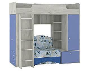 Кровать-чердак с диваном Тетрис, арт.366+366ДБ