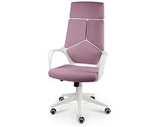 Купить кресло Норден IQ (White plastic violet) белый пластик/ фиолетовая ткань