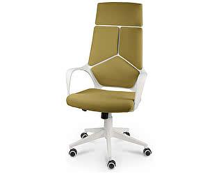 Купить кресло Норден IQ (White plastic-mustard ) белый пластик/ горчичная ткань