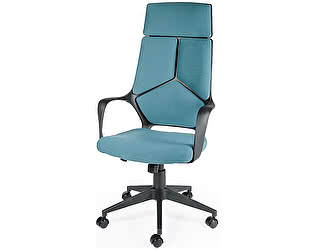 Купить кресло Норден IQ (Black plastic blue) черный пластик/ голубая ткань