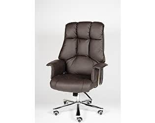 Купить кресло Норден Президент сталь+хром, темно-коричневая кожа