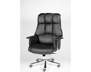 Купить кресло Норден Президент сталь, хром, черная кожа