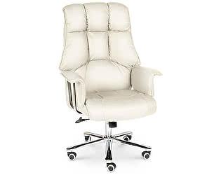 Купить кресло Норден Президент сталь, хром, слоновая кость экокожа