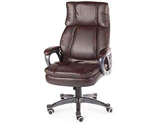 Купить кресло Норден Мэдисон (brown) серый пластик, темно-коричневая экокожа