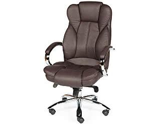 Купить кресло Норден Верса (brown) сталь, хром, темно-коричневая экокожа