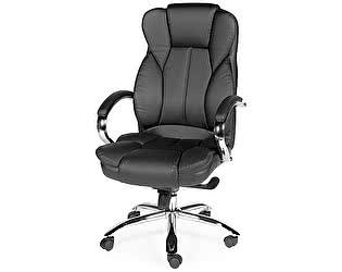 Купить кресло Норден Верса (black) сталь, хром, черная экокожа