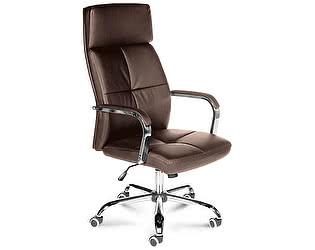 Купить кресло Норден Алекс коричневая экокожа