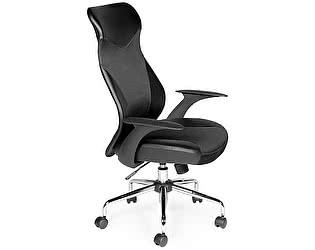 Купить кресло Норден Директ Люкс черная экокожа, черная сетка