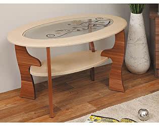 Стол журнальный Маджеста-4 с рисунком Олимп-Мебель