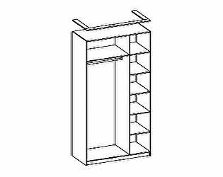 Шкаф для одежды трехдверный Розалия Олимп-мебель, 06.56