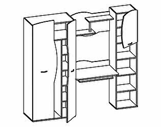 Шкаф комбинированный Тони-1 Олимп-Мебель