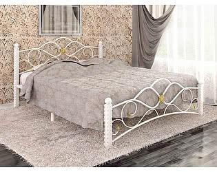 Кровать Райтон Garda 3 белый с золотой патиной