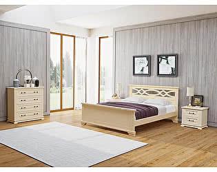 Кровать Райтон Nika М береза (белый, слоновая кость)