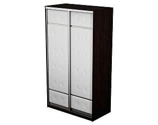Шкаф-купе 2х дверный Неро/Сезия без зеркал