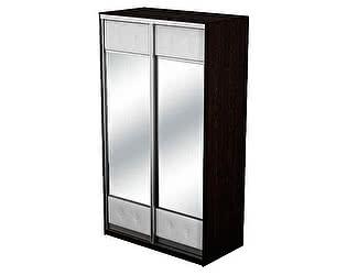 Шкаф-купе 2х дверный Неро/Сезия с двумя зеркалами
