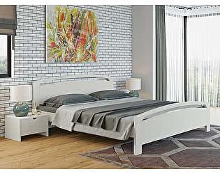 Кровать Райтон Веста 1-R береза (белый, слоновая кость)