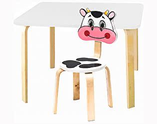 Купить  Polli Tolli Комплект детской мебели Мордочки с белым столиком
