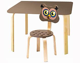 Купить  Polli Tolli Комплект детской мебели Мордочки с коричневым столиком