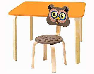 Купить  Polli Tolli Комплект детской мебели Мордочки с оранжевым столиком