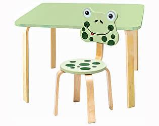 Купить  Polli Tolli Комплект детской мебели Мордочки с салатовым столиком