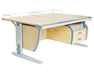 Купить стол Дэми СУТ-15-04 120х55 см + 2 задние приставки и подвесная тумба