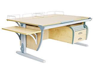 Купить стол Дэми СУТ-15-05 120х55 см + 2 задние приставки + боковая приставка + подвесная тумба