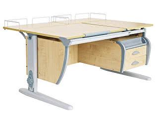Купить стол Дэми СУТ-17-04 120х80 см + подвесная тумба + 2 задних приставки
