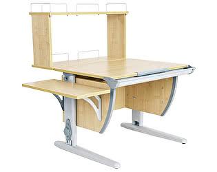 Купить стол Дэми СУТ 14-02Д (парта 75 см+задняя двухъярусная приставка+боковая приставка)