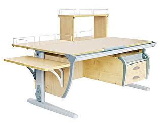 Купить стол Дэми СУТ 15-05Д (парта 120 см+задняя приставка+двухъярусная задняя приставка+боковая приставка+подвесная