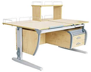 Купить стол Дэми СУТ 17-04Д (парта 120 см+задняя приставка+двухъярусная задняя приставка+подвесная тумба)