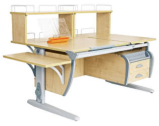 Купить стол Дэми СУТ 17-05Д2 (парта 120 см+две двухъярусные задние приставки+боковая приставка+подвесная тумба)