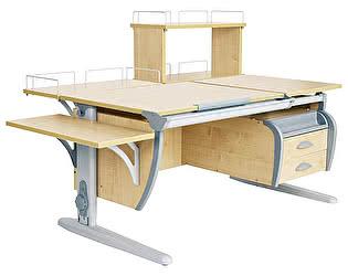 Купить стол Дэми СУТ 17-05Д (парта 120 см+задняя приставка+двухъярусная задняя приставка+боковая приставка+подвесная