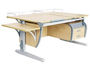 Купить стол Дэми СУТ 17-05 (парта 120 см+две задние приставки+боковая приставка+подвесная тумба)
